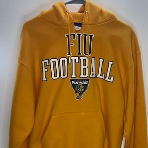 Champion FIU Golden Panthers Football Hoodie Sz M